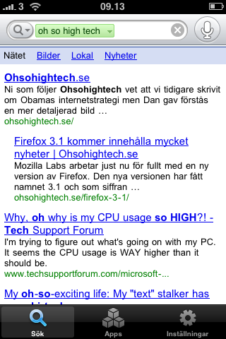 img 0013 Google Mobile för iPhone med röstfunktion