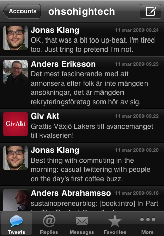 tweetie dark theme Bästa Twitter applikationen på iPhone är Tweetie