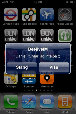 BeejiveIM push notification