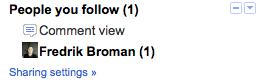 list1 Google Reader blir mer socialt